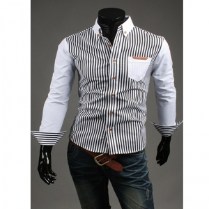 men-s-classic-slim-fit-vertical-striped-shirts