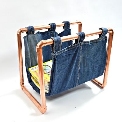 Copper-Magazine-Rack