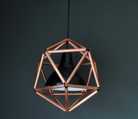 Copper-Pipe-Icosahedron-Light-Fixture