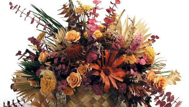 تزیین با گل خشک